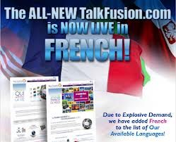 Talk fusion french template are availble..join us now at www.1384257.talkfusion.com