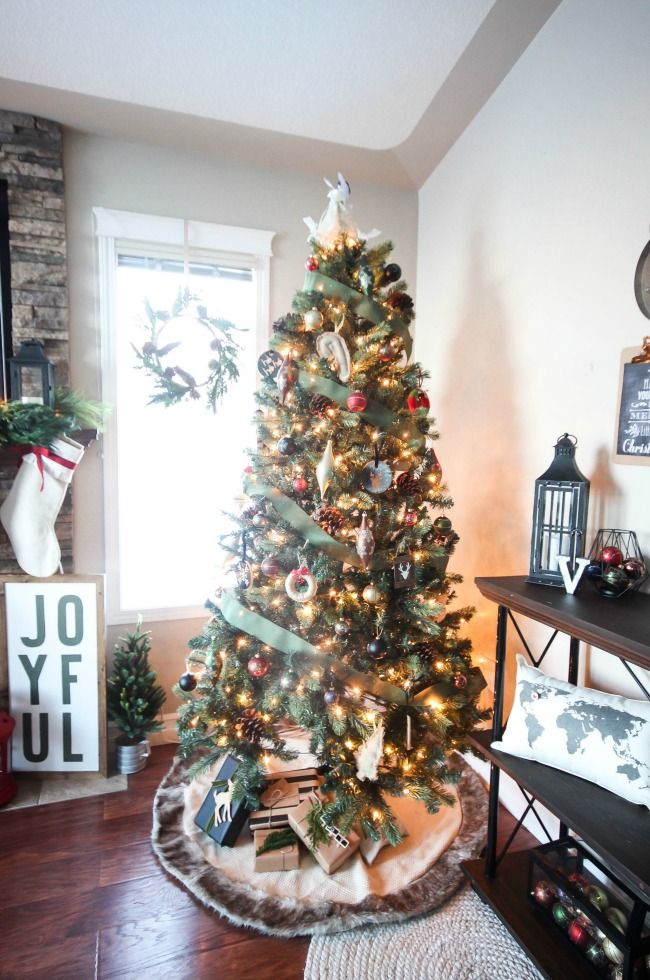 A Rustic Industrial Christmas Home Tour - Love Create Celebrate