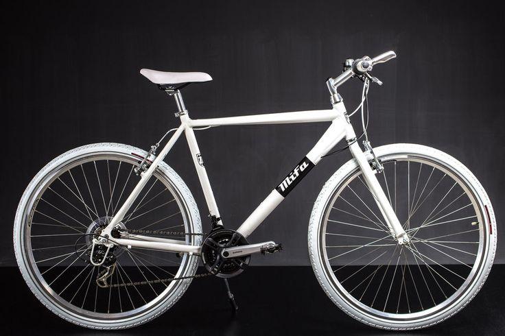 28  Zoll Crossbike Alu Fitnessbike Herren Fahrrad MTB Shimano 21 Gang weiss