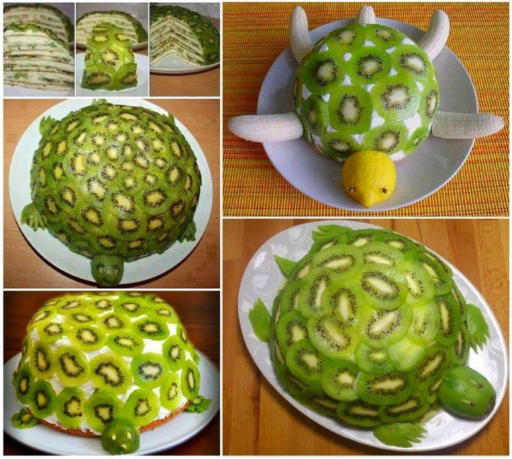 Turtle Kiwi Fruit Cake