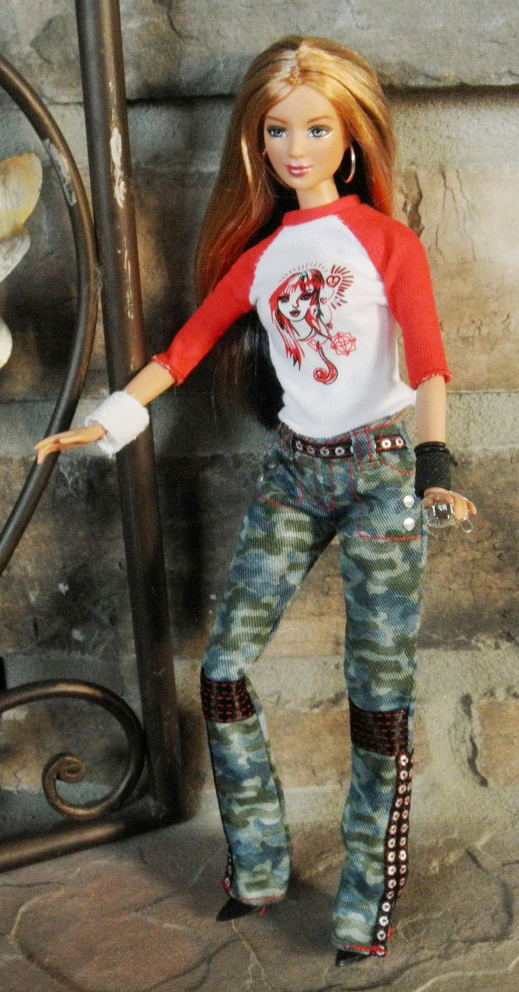 Hard Rock Cafe Barbie articulated wearing Shakira concert tour ensemble