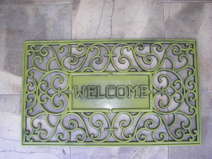 revive and old rubber door mat with spray paint - Rubber Door Mat