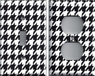 Black White Houndstooth Alabama Bear Bryant Switchplates Outlet Covers | eBay