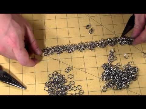 How to Make a Chainmail Rose Pattern - YouTube