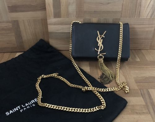 f0889f7f Details about 100% AUTHENTIC Yves Saint Laurent YSL Monogram purse ...