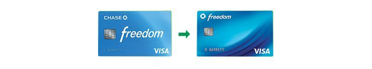 New Chase Freedom Credit Card Design Available Good morning everyone. Yesterd – Easy Cash