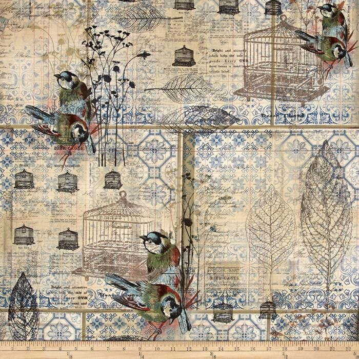 51 best tim holtz fabric images on pinterest tim holtz fabric tim holtz eclectic elements wallflower menagerie blue gumiabroncs Choice Image