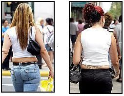 Urban Dictionary: muffin top is when a woman wears a pair of tight jeans that makes her flab spill over the waistband, just like the top of a muffin sits over the edge of the paper case. (this only made me want to eat a muffin...its been about 2 years and I still have the top, so I mine as well eat the muffin!)