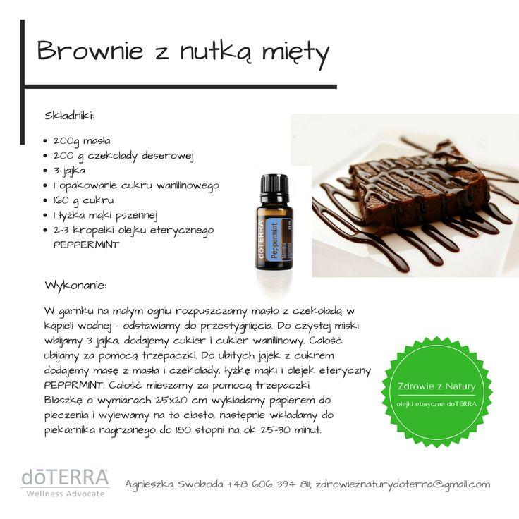 Brownie z nutką mięty -przepis #czekoladoweciacho, #olejeketeryczny #PEPPERMINT #doTERRA