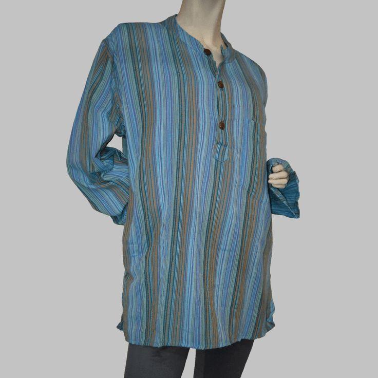 Striped Nepalese Long Sleeve Shirt