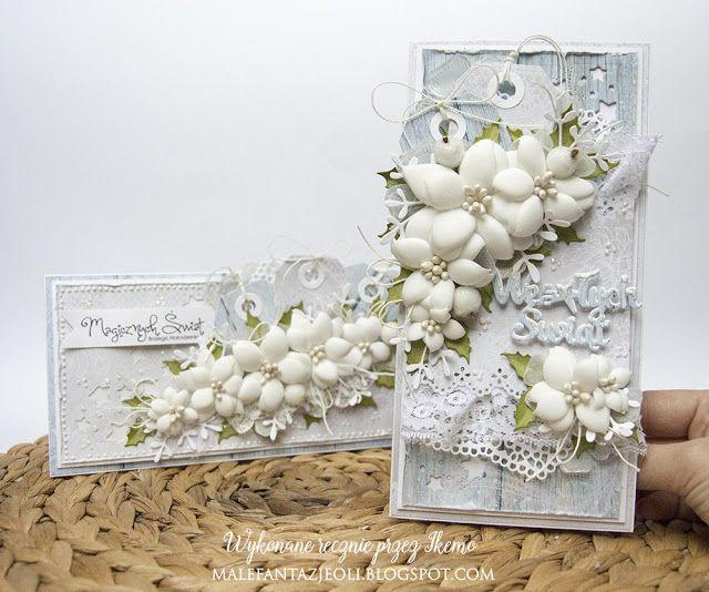 Blog Craft Passion: Mroźne kartki/ Frozen cards
