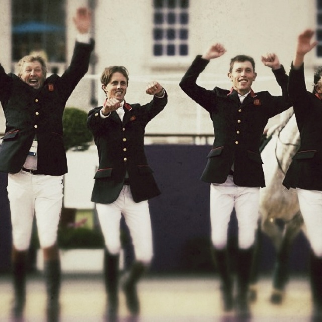 Nick Skelton, Ben Maher, Scott Brash & Peter Charles - GOLD, Team Showjumping I love this photo!