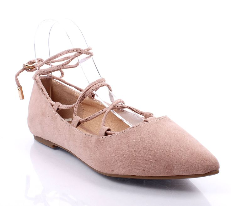 """Cute Adjustable Tie Up Laces Ladies Casual Womens Ballet Flats Shoes Size Without Box (10, Taupe). Shoe material: faux suede. Shoe inner material: synthetic material. Outer sole material: rubber. Platform height: approx. 1/2"""" inch. Adjustable tie up laces."""