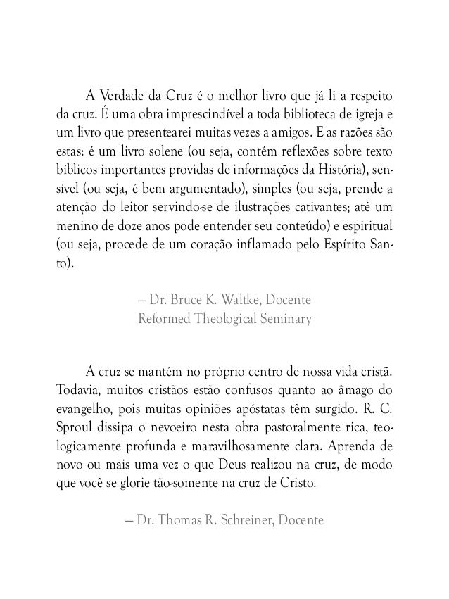 A verdade da cruz   r c sproul by Eney Araujo via slideshare