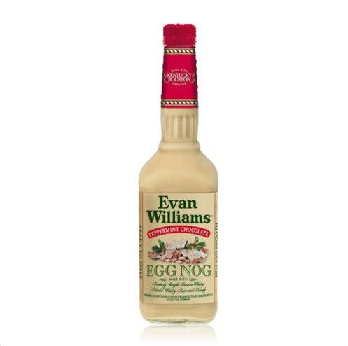 Evan Williams Peppermint Chocolate Egg Nog. There's traditional eggnog, and then there's Evan Williams Peppermint Chocolate Egg Nog.. | spiritedgifts.com