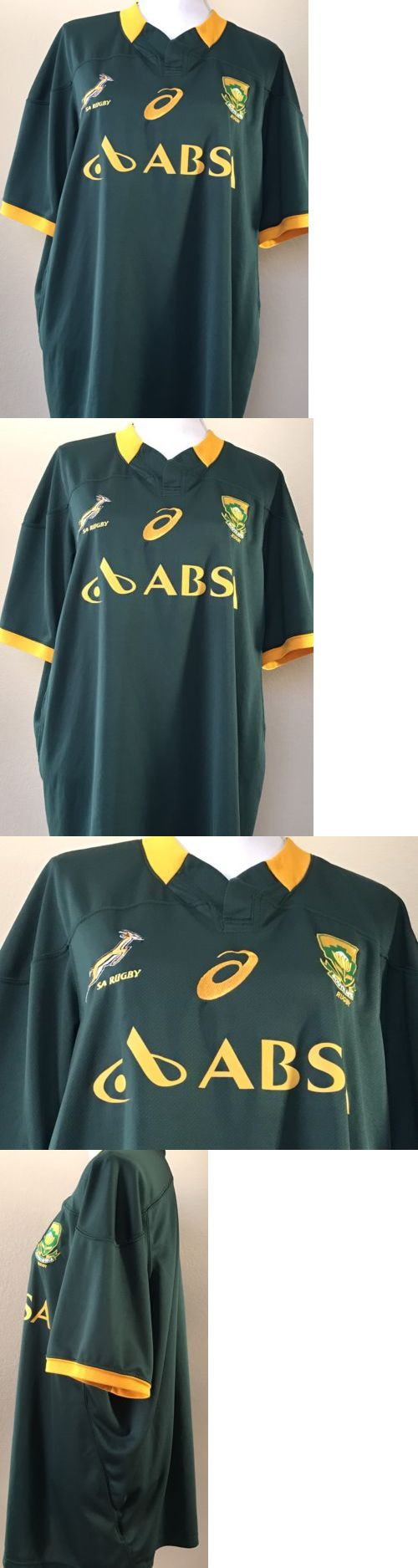 Rugby 21563: Asics South Africa Springboks Rugby Jersey Size 3Xl Nwot Authentic Approved -> BUY IT NOW ONLY: $75.99 on eBay!