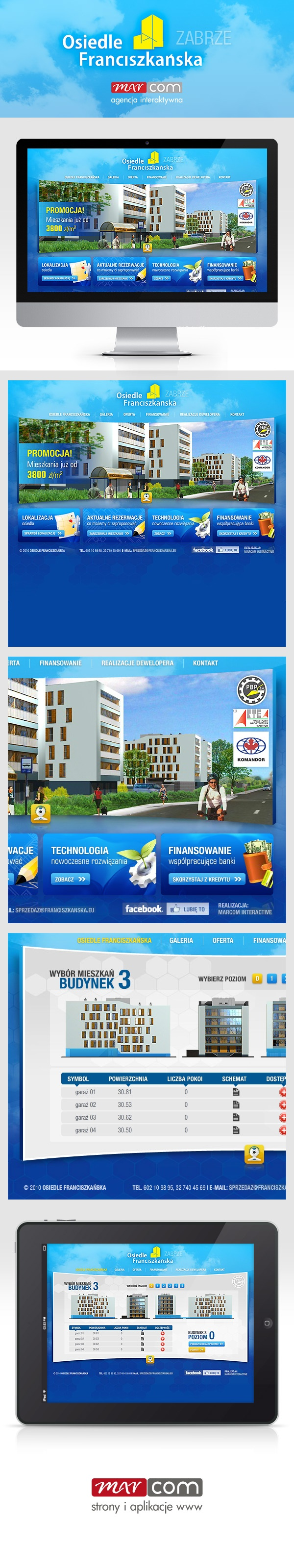 Strona internetowa osiedla deweloperskiego Franciszkańska w Zabrzu.