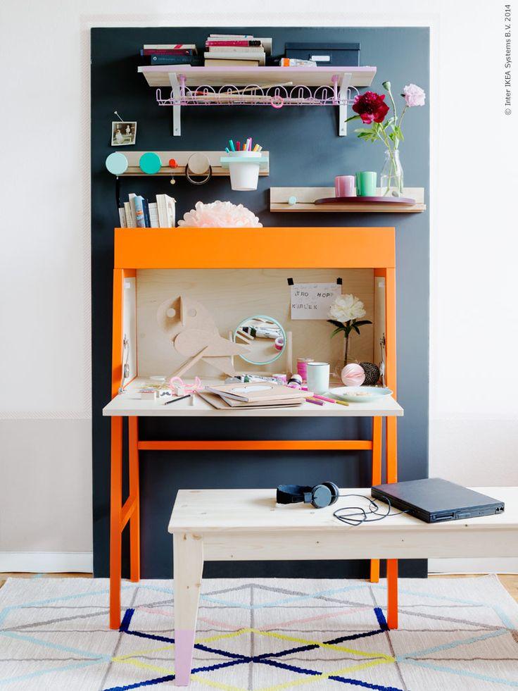 Till skolstarten fixar du enkelt en plats som passar just dina behov med hjälp av smarta produkter ur IKEA PS 2014 kollektionen.