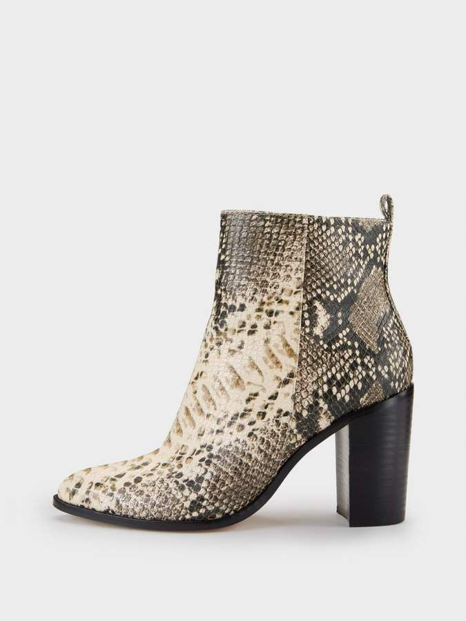 528b5995548 DKNY Houston Snake Print Ankle Boot   Fashion   Snake boots, Boots ...