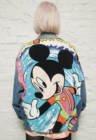 Seriously!  Why would any grown woman wear this? Mickey Mouse Denim Jacket!