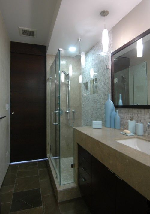 82 Best Images About Home Bathroom Long Narrow On Pinterest Contemporary Bathrooms Narrow