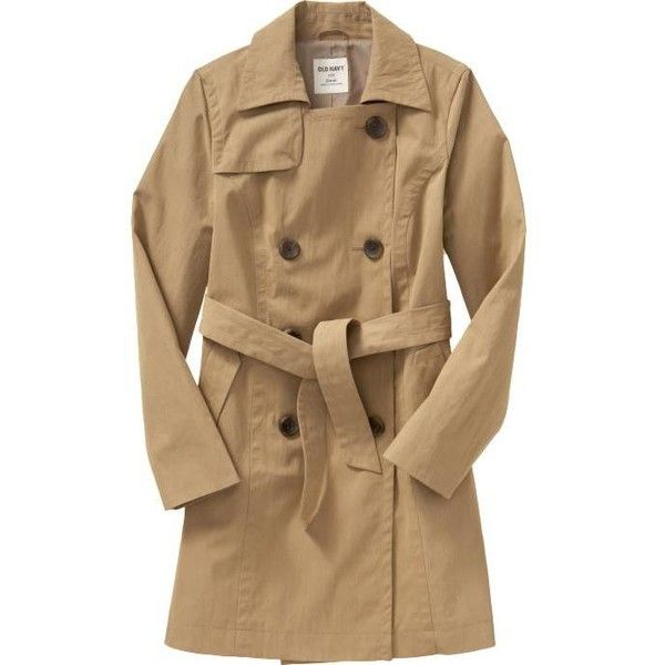 Old Navy Women's Canvas Trench Coats (€32) ❤ liked on Polyvore featuring outerwear, coats, jackets, trench coat, women, canvas coat, fitted coat, double-breasted coat, old navy coats and old navy