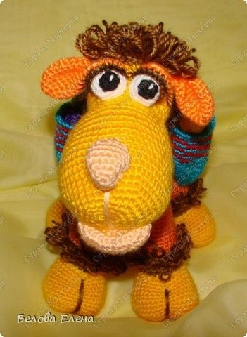 Авторская игрушка Елены Беловой - Верблюжонок Жоржик крючком. Мастер-класс (33) (351x480, 109Kb)
