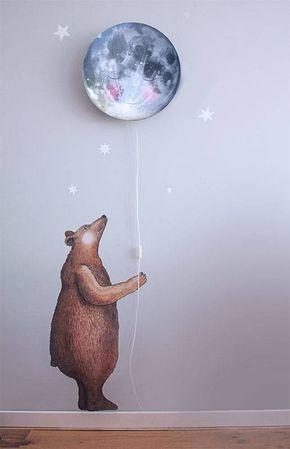 Aufkleber Großer Bär macht jede Wand zum Knutschen gern..Der großer Bär passt auf alles auf während du schläfst. Dort oben zwischen den Sternen scheint der Mond so helle....es sieht aus als ob der Mond lacht!