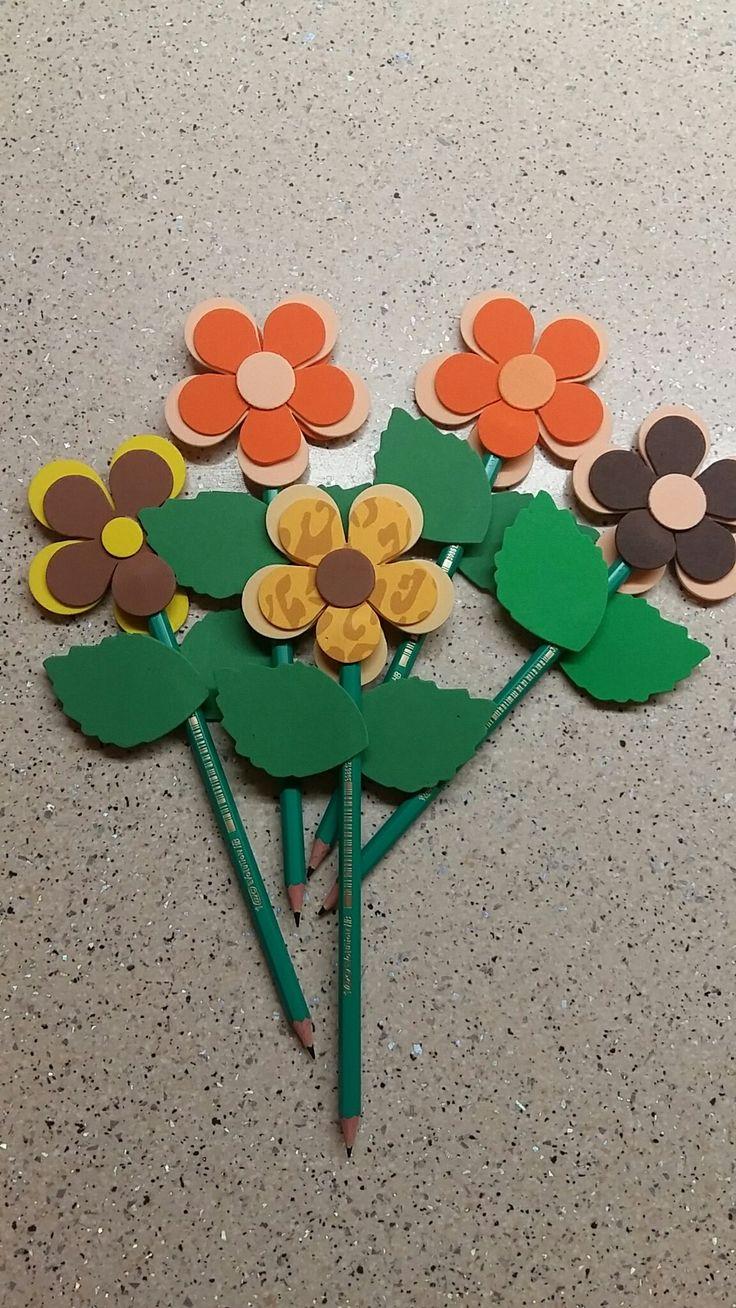 Flowered pencils
