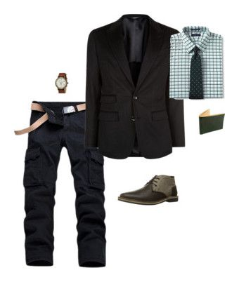 """SETS"" by kenske on Polyvore featuring Dolce&Gabbana, Lands' End, Steve Madden, Timex, Tusk, men's fashion and menswear"