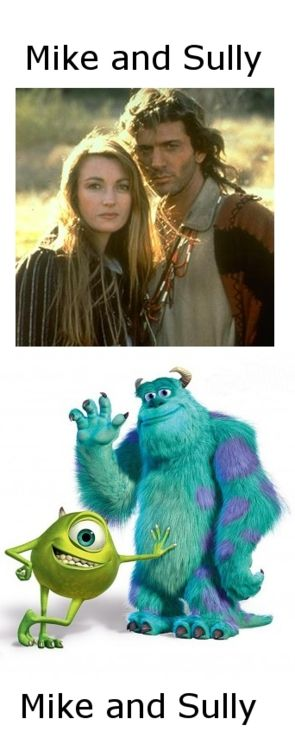 Dr. Quinn and Monsters Inc  via hem1990.tumblr.com <- LOL I never thought of this... just made my day!!