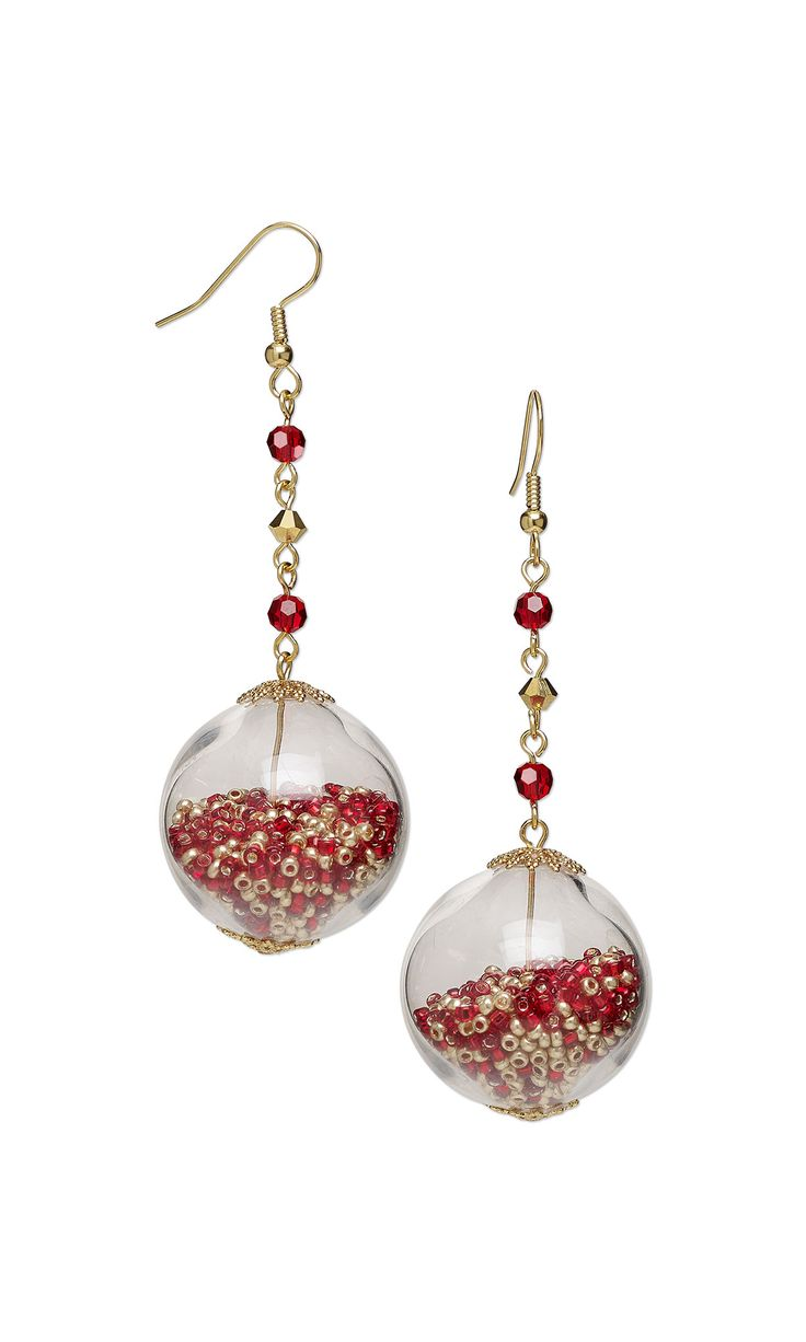 Jewelry design earrings with hand blown glass beads