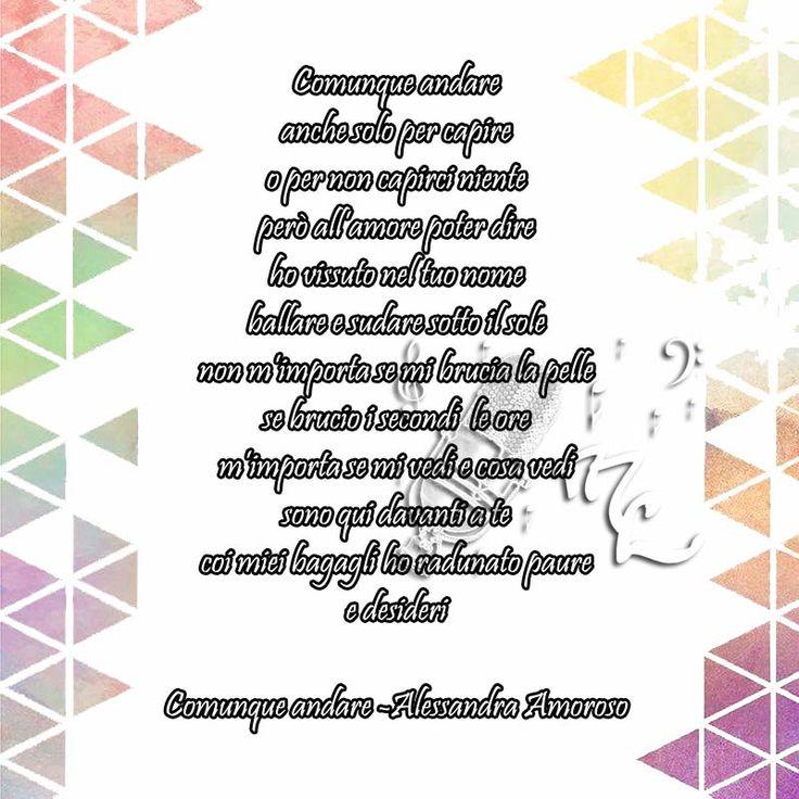 Comunque andare - Alessandra Amoroso https://www.facebook.com/musicorner/