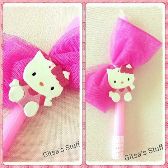 Easter Candle.. Handmade.. Pink.. Hello Kitty..