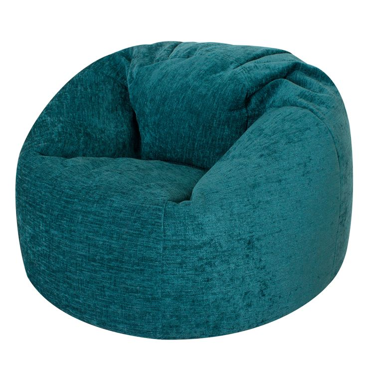 XL Panelled Bean Bag in Luxury Chenille 'Teal' #beanbag