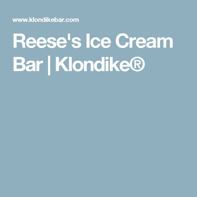 Reese's Ice Cream Bar | Klondike®