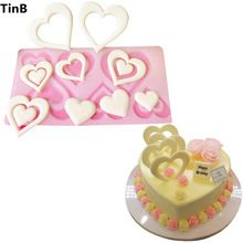 Hot DIY 3D Heart Shape Silicone Mold Cake Decorating Tools Cupcake Silicone Mold Chocolate Mould Decor Muffin Pan Baking Stencil(China)