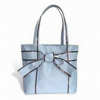Microfiber and Cotton Shopping Bags with Ribbon