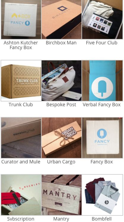 List of Mens Subscription Boxes - Vote for the Best Box! #subscriptionboxes