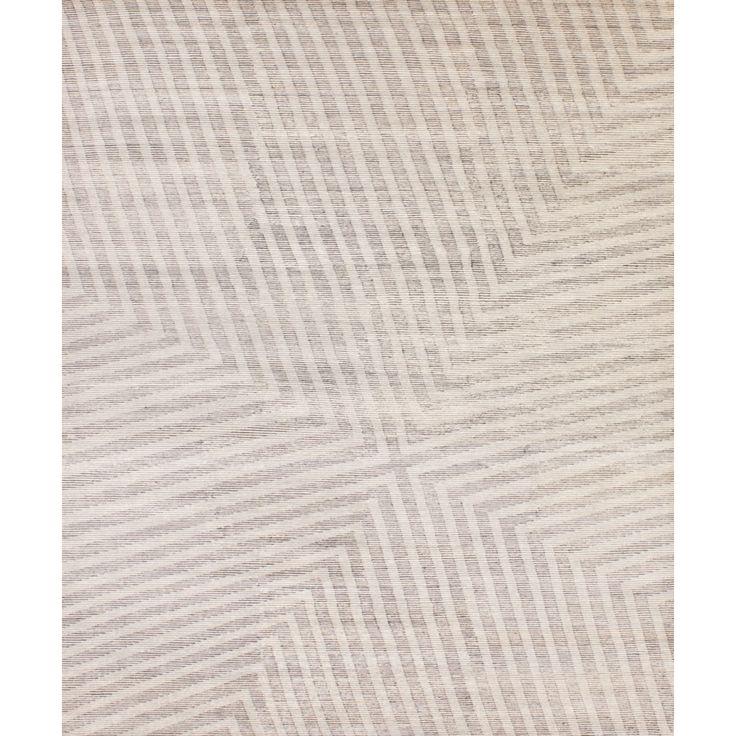 Rombauer Ivory/Grey - (9' x 12')