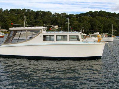 cabin cruiser power boats boats online for sale timber new south wales nsw careel bay. Black Bedroom Furniture Sets. Home Design Ideas