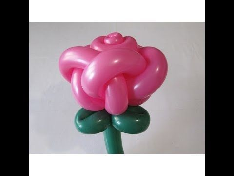 Роза из шаров, 5 лепестков / Rose of ballons, 5 petals / 2x260 - YouTube