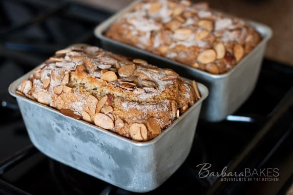 Moist, delicious cardamom-orange coffee cake topped with an almond cinnamon sugar topping, baked in cute mini loaf pans so they're easy to share and sturdy enough to mail to far away friends.