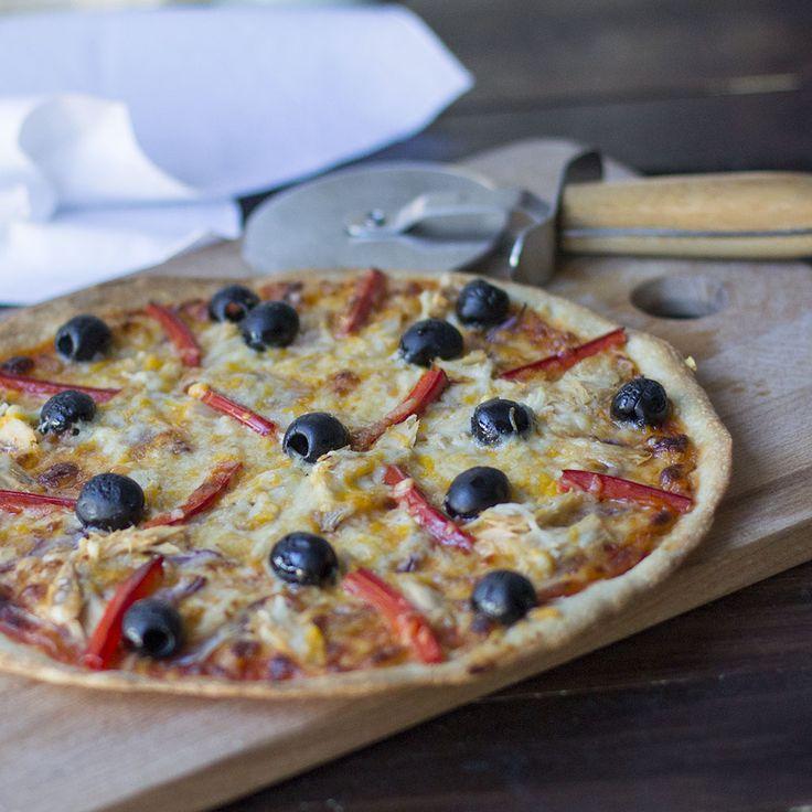 Cómo preparar pizza con cebolla morada, pimiento rojo, aceitunas negras y atún con Thermomix « Trucos de cocina Thermomix