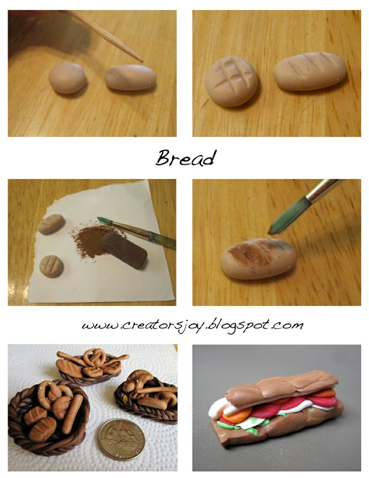 Creator's Joy: Dollhouse Miniature bread tutorial