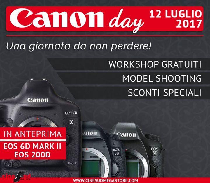 """Il 12 Luglio, dalle 9:30 alle 19:00, nel nostro store di Montepaone Lido (CZ) Canon sarà la protagonista. Assieme a tutte le altre novità della casa nipponica, avrai modo di toccare con mano, in anteprima assoluta, le nuove Canon EOS 6D Mark II (versione sample) e EOS 200D.  Durante la giornata, potrai inoltre approfittare dei nostri workshop gratuiti.   Alle 15:30, il fotografo professionista Pasquale Pitti, terrà il seminario """"Armonia e fascino di una fotografia"""": cos'è una fotografia? A…"""