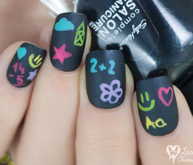37 Super Cute Back To School Nail Art Designs