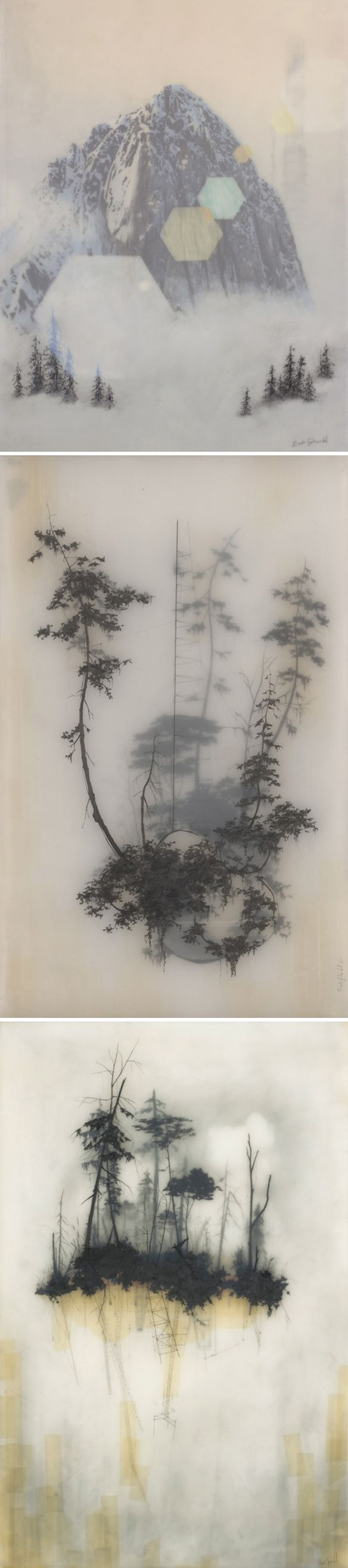 Brooks Shane Salzwedel, graphite drawings