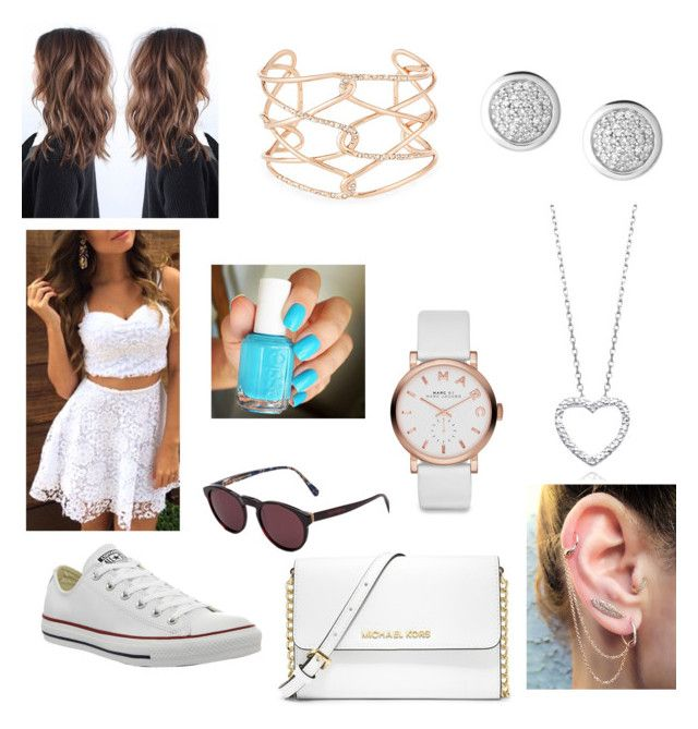 """""""a day out in london outfit"""" by strotsenburg on Polyvore featuring mode, Converse, MICHAEL Michael Kors, RetroSuperFuture, Marc by Marc Jacobs, Essie en Alexis Bittar"""