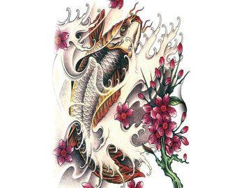 koi vissen tattoo grote tijdelijke tattoo vis tattoo arm tatoeage voor ...